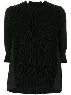 свитер со вставкой  Sacai