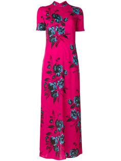 длинное платье с высоким горлом McQ Alexander McQueen