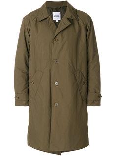 однобортное пальто прямого кроя Aspesi