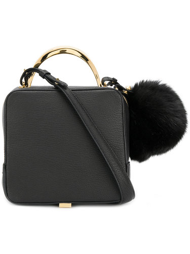pom pom shoulder bag The Volon