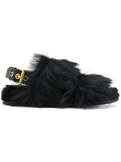 сандалии с отделкой из меха норки Car Shoe