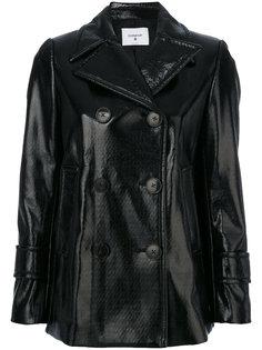 двубортная куртка из искусственной кожи Dondup