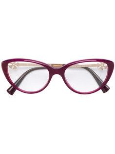low cat eye glasses Bulgari