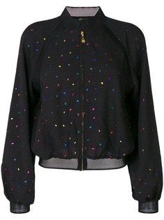 dotted pattern bomber jacket Stine Goya