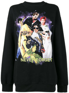 Never Forget Printed Sweatshirt Filles A Papa