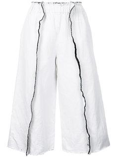 укороченные брюки в полоску Comme Des Garçons