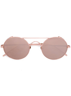 round tinted sunglasses Linda Farrow