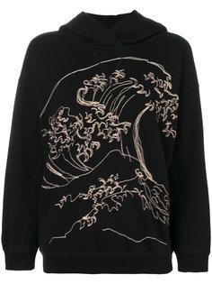 wave embroidered hoodie Bellerose