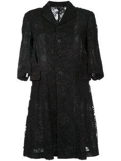 пальто с кружевом Comme Des Garçons