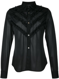 классическая рубашка с оборками Comme Des Garçons