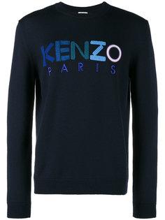 джемпер с разноцветным вышитым логотипом Kenzo