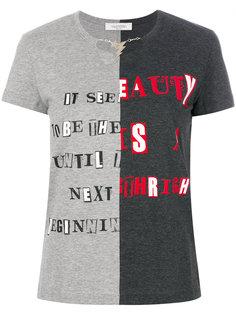 футболка со вставкой и цепочкой  Valentino