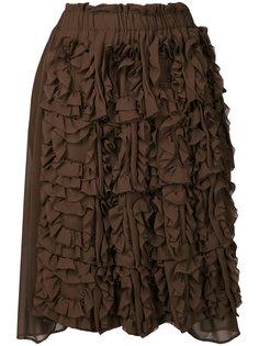 укороченные брюки с оборками Comme Des Garçons