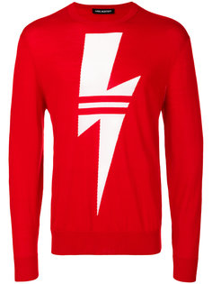свитер с изображением молнии Neil Barrett