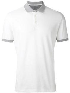 футболка-поло с полосатой окантовкой Brunello Cucinelli