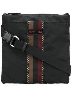 полосатая сумка-почтальонка Etro