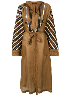 платье с поясом и вышивкой Vita Kin