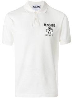 футболка-поло с принтом-логотипом Moschino
