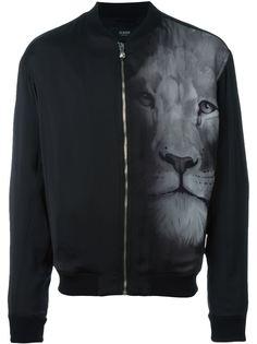 куртка-бомбер с принтом льва Versus