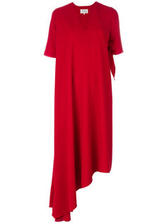 асимметричное платье с драпировкой  Maison Margiela
