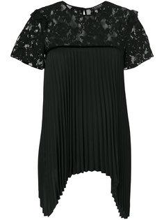 плиссированная блузка с кружевной панелью Twin-Set