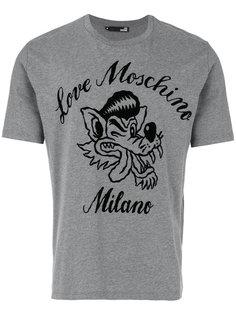 футболка с принтом волка Love Moschino