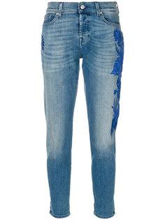 джинсы слим с вышивкой  7 For All Mankind