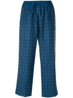 укороченные брюки с вышивкой Vita Kin