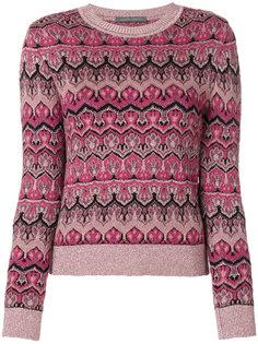 трикотажный свитер с круглым вырезом  Alberta Ferretti