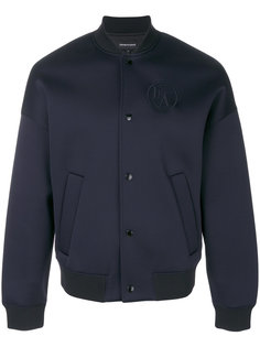 куртка-бомбер  с вышитым логотипом Emporio Armani