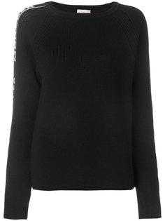 свитер с логотипом на рукаве  Moncler