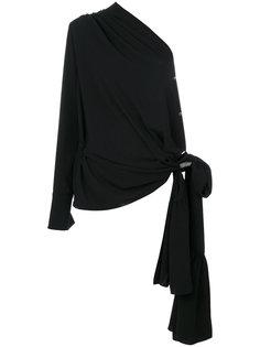 блузка на одно плечо с драпировкой  Maison Margiela