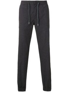 брюки в полоску с присборенными щиколотками Z Zegna