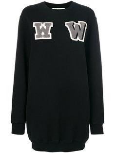 платье-свитер с нашивками WW Off-White