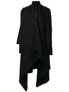 draped asymmetric coat Poème Bohémien
