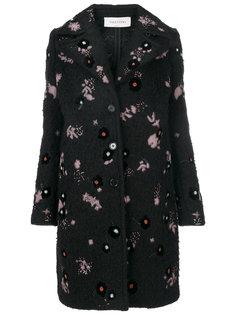 пальто с вышивкой  Valentino