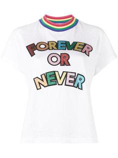 футболка с отделкой Forever or Never Mira Mikati