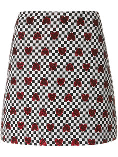 клетчатая юбка с сердцами Ultràchic