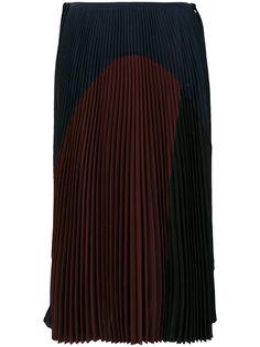 плиссированная юбка колор блок  Agnona