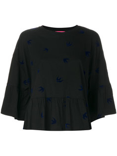 блузка с ласточками McQ Alexander McQueen