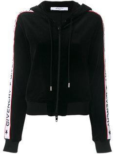 куртка в полоску с капюшоном и логотипом  Givenchy