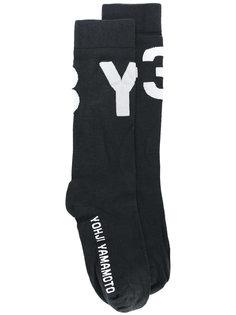 носки с принтом-логотипом Y-3