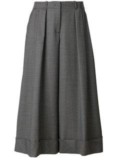 широкие укороченные брюки  Jil Sander Navy