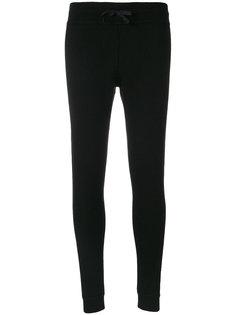трикотажные брюки в рубчик  Moncler