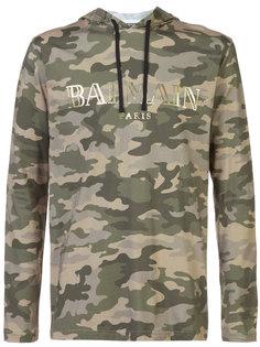 camouflage logo hoodie Balmain
