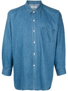 джинсовая рубашка с классическим воротником monkey time