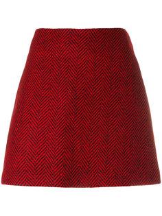 прямая юбка с узором шеврон Ultràchic