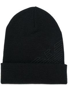 шапка с логотипом Emporio Armani