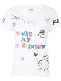 футболка Youre My Rainbow Kenzo