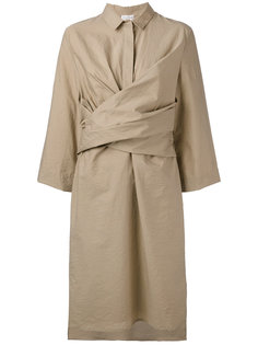 платье миди с запахом Brunello Cucinelli